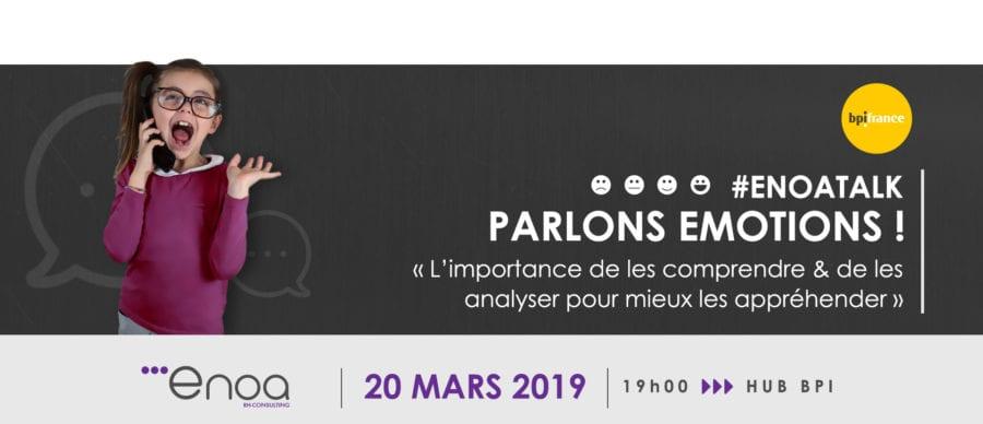 Conférence #EnoaTalk Parlons émotions 20 mars 2019