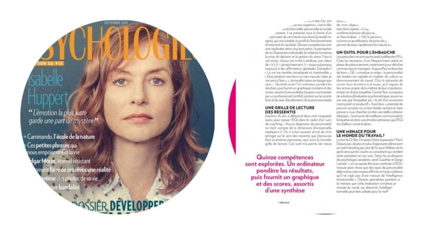 Couverture Psychologies Magazine - Développer son Intelligence émotionnelle - Numéro Septembre 2019ie_magazine_sept2019_2
